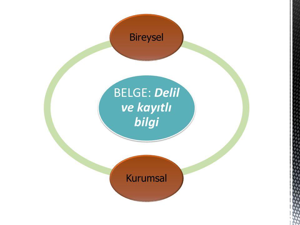 BELGE: Delil ve kayıtlı bilgi