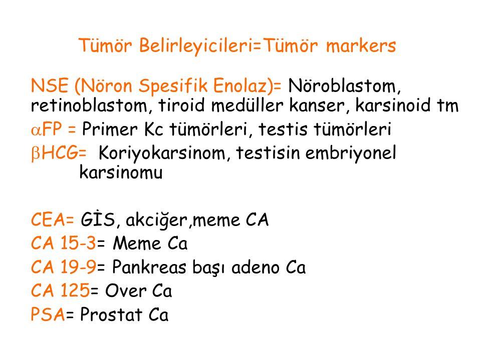 Tümör Belirleyicileri=Tümör markers
