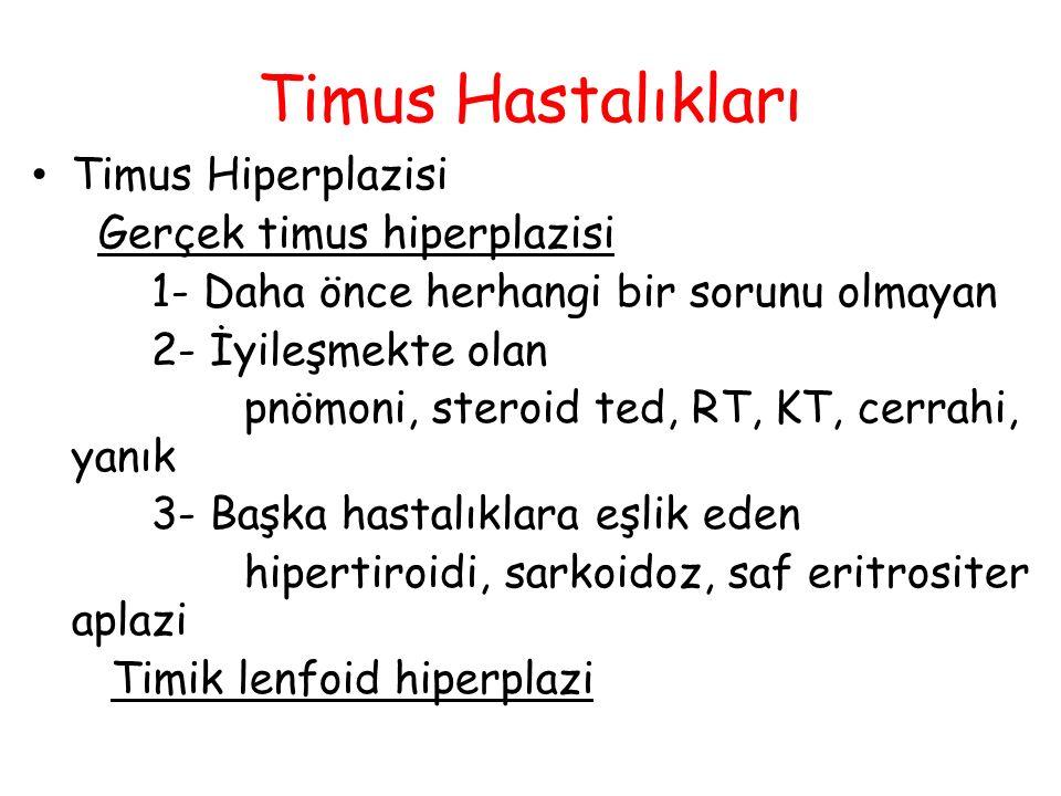 Timus Hastalıkları Timus Hiperplazisi Gerçek timus hiperplazisi