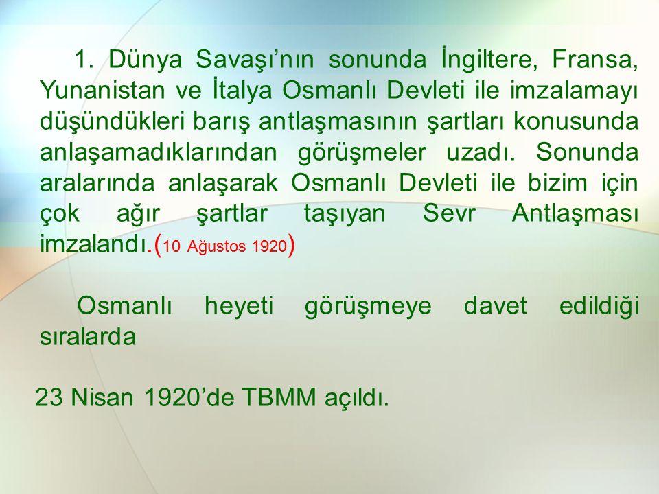 Osmanlı heyeti görüşmeye davet edildiği sıralarda