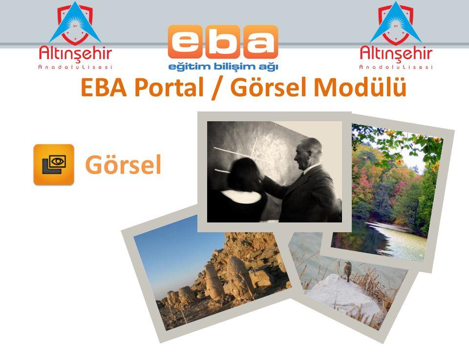 EBA Portal / Görsel Modülü