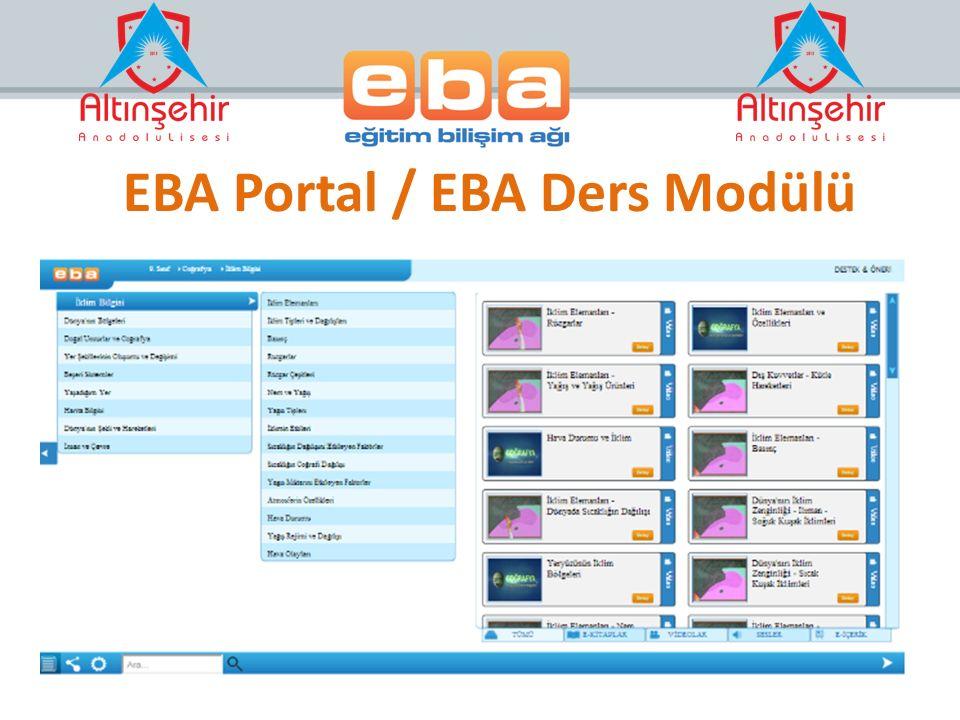 EBA Portal / EBA Ders Modülü
