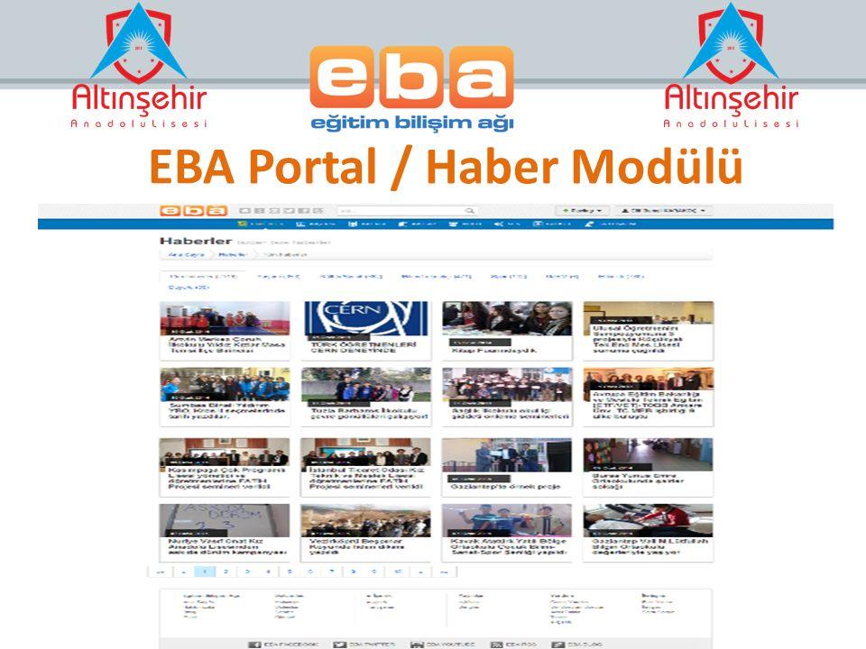 EBA Portal / Haber Modülü