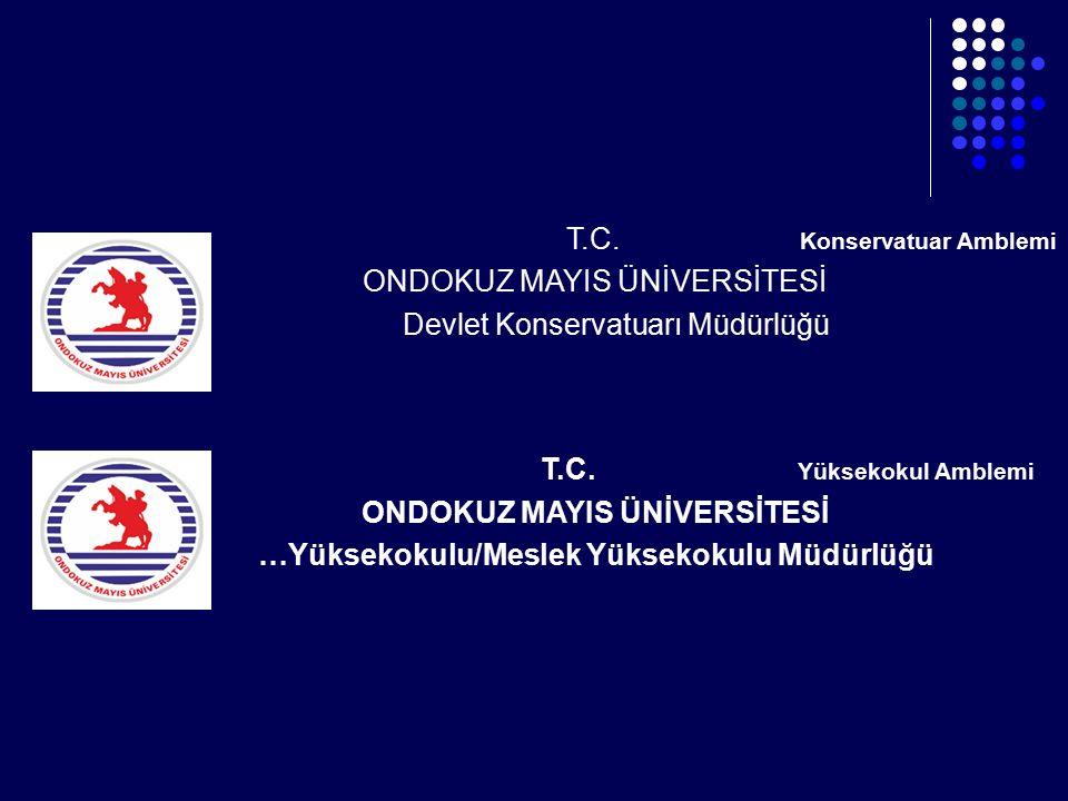 …Yüksekokulu/Meslek Yüksekokulu Müdürlüğü