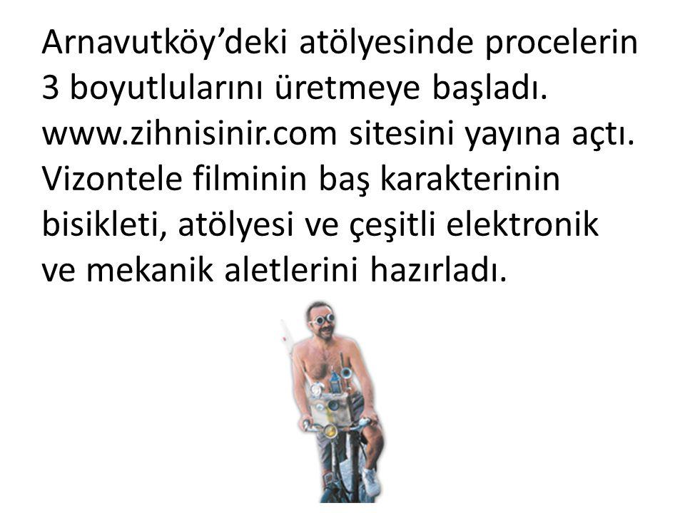 Arnavutköy'deki atölyesinde procelerin 3 boyutlularını üretmeye başladı.
