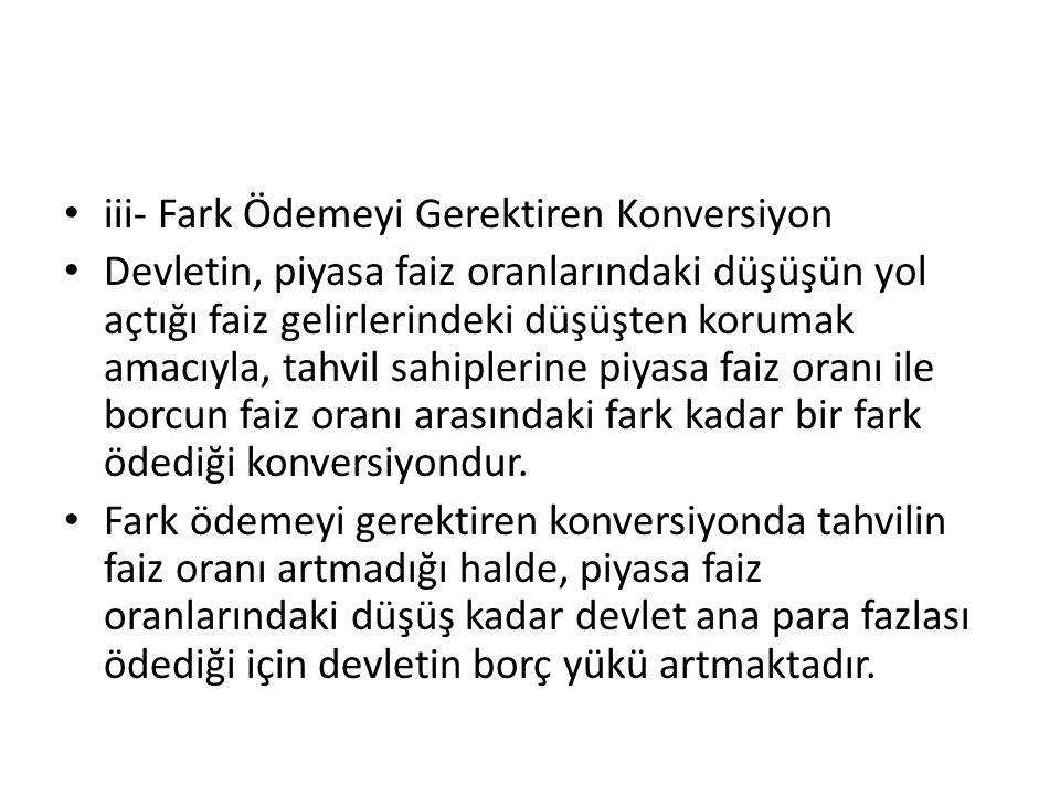iii- Fark Ödemeyi Gerektiren Konversiyon