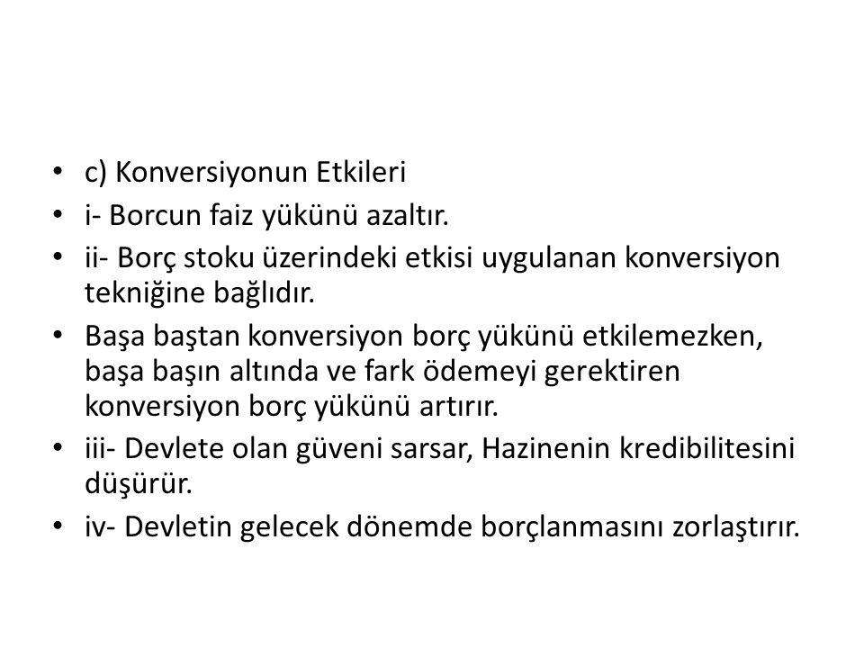 c) Konversiyonun Etkileri