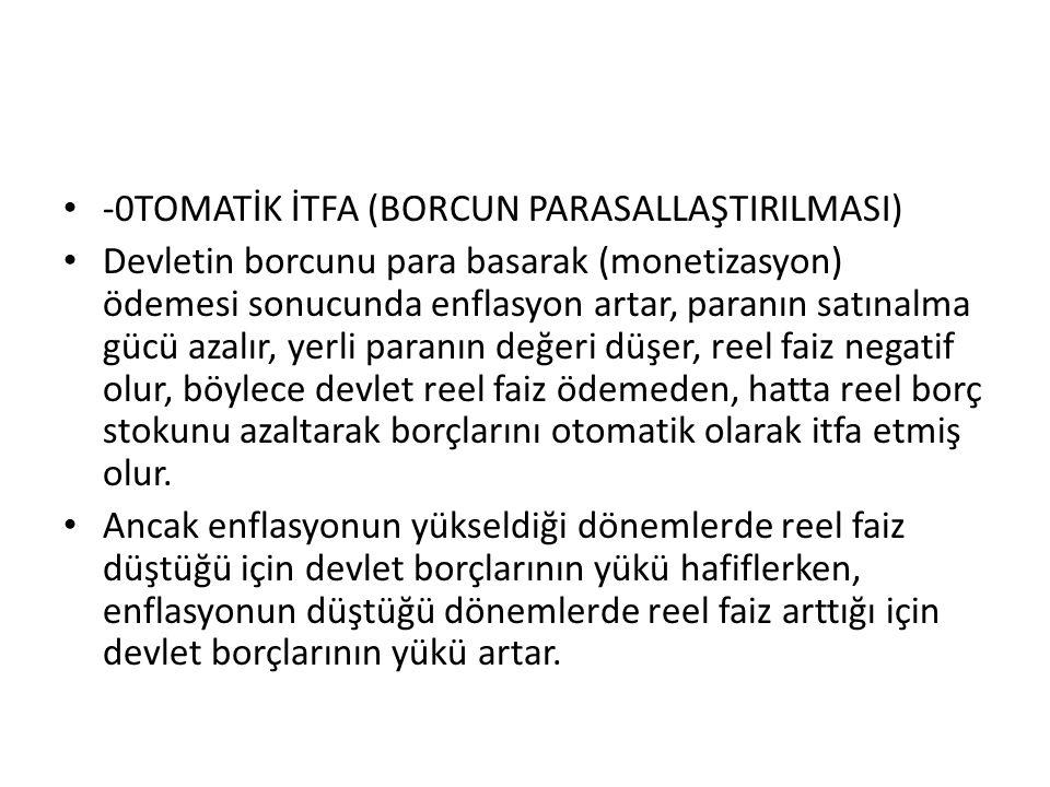 -0TOMATİK İTFA (BORCUN PARASALLAŞTIRILMASI)