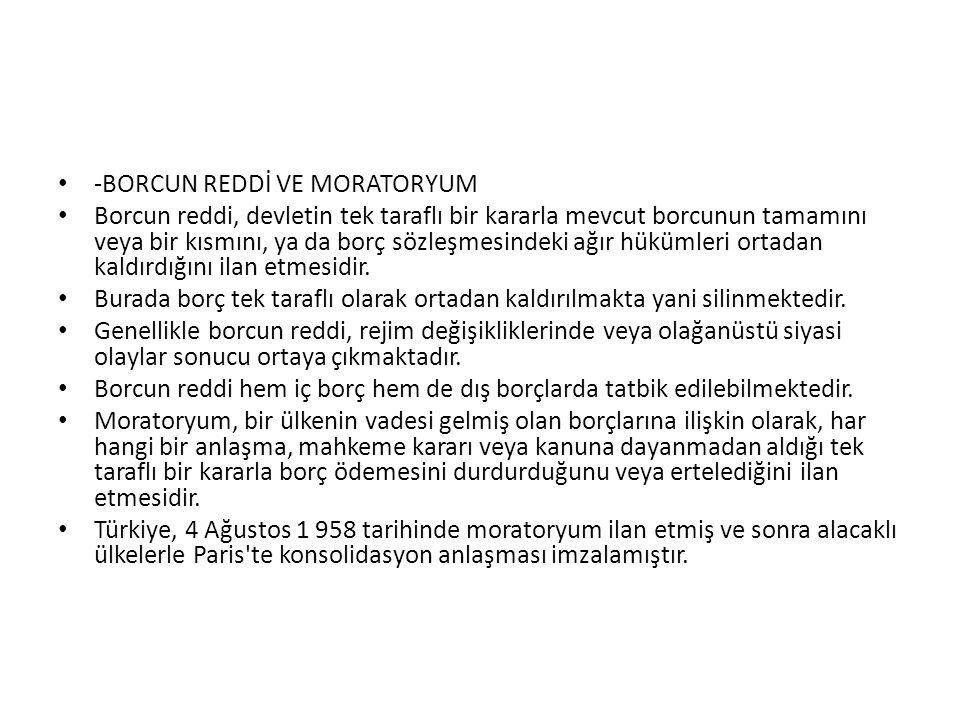 -BORCUN REDDİ VE MORATORYUM