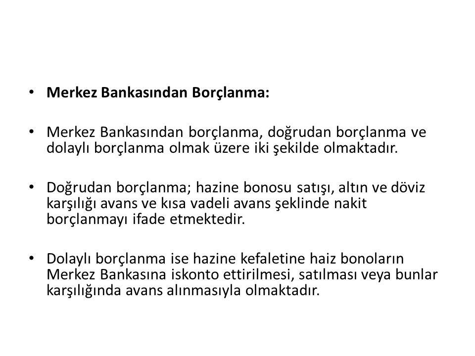 Merkez Bankasından Borçlanma: