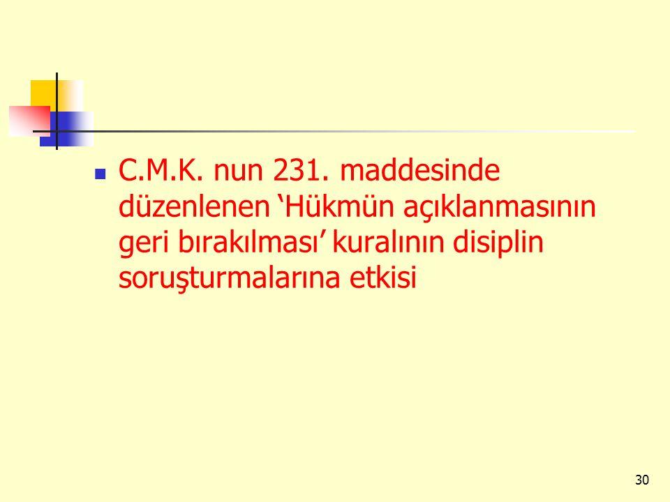 C.M.K. nun 231.
