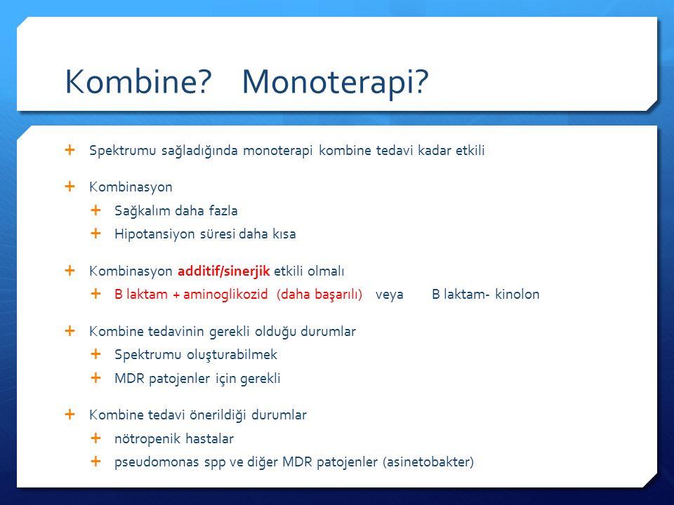 Kombine Monoterapi Spektrumu sağladığında monoterapi kombine tedavi kadar etkili. Kombinasyon.