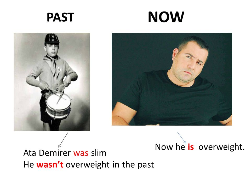 NOW PAST Now he is overweight. Ata Demirer was slim