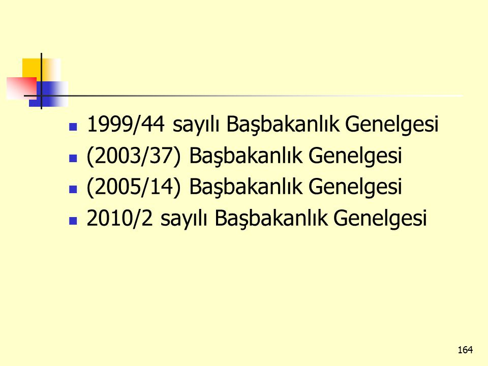 1999/44 sayılı Başbakanlık Genelgesi