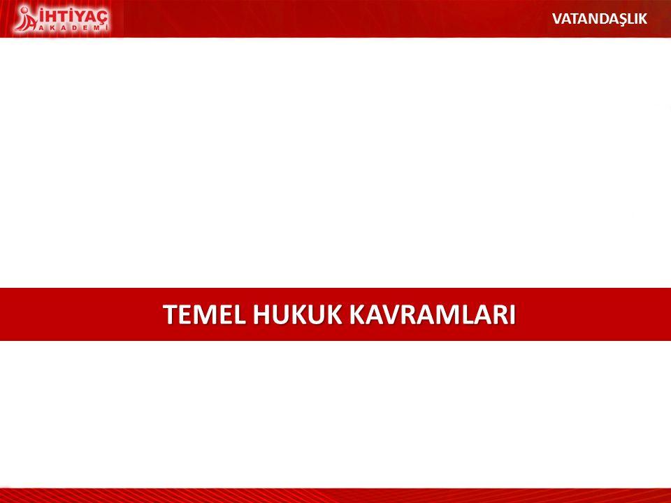 TEMEL HUKUK KAVRAMLARI