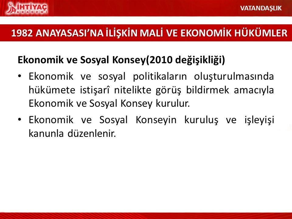 Ekonomik ve Sosyal Konsey(2010 değişikliği)