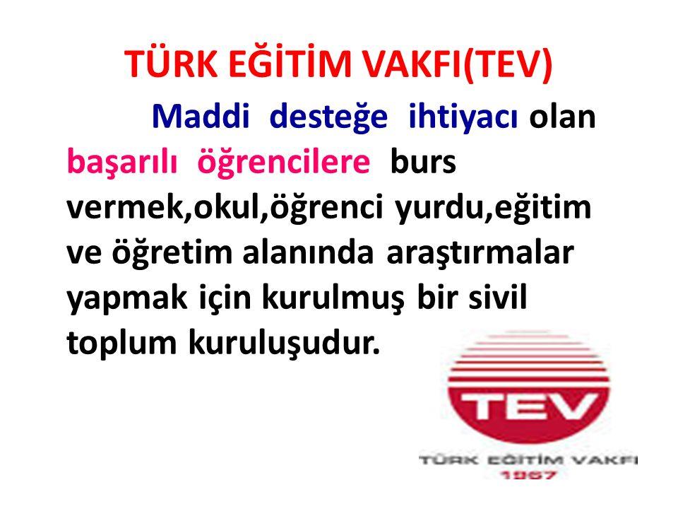 TÜRK EĞİTİM VAKFI(TEV)