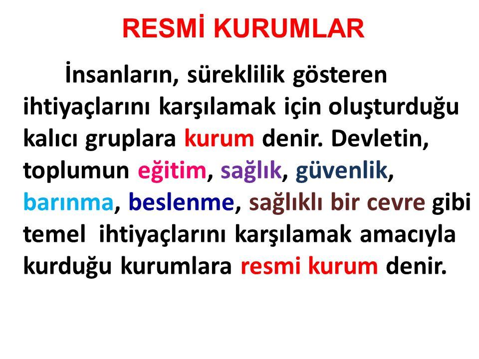 RESMİ KURUMLAR