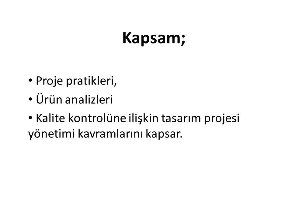 Kapsam; Proje pratikleri, Ürün analizleri