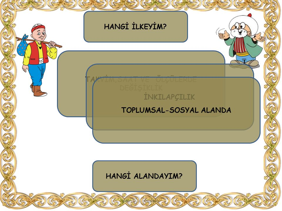 TAKVİM,SAAT VE ÖLÇÜLERDE DEĞİŞİKLİK TOPLUMSAL-SOSYAL ALANDA
