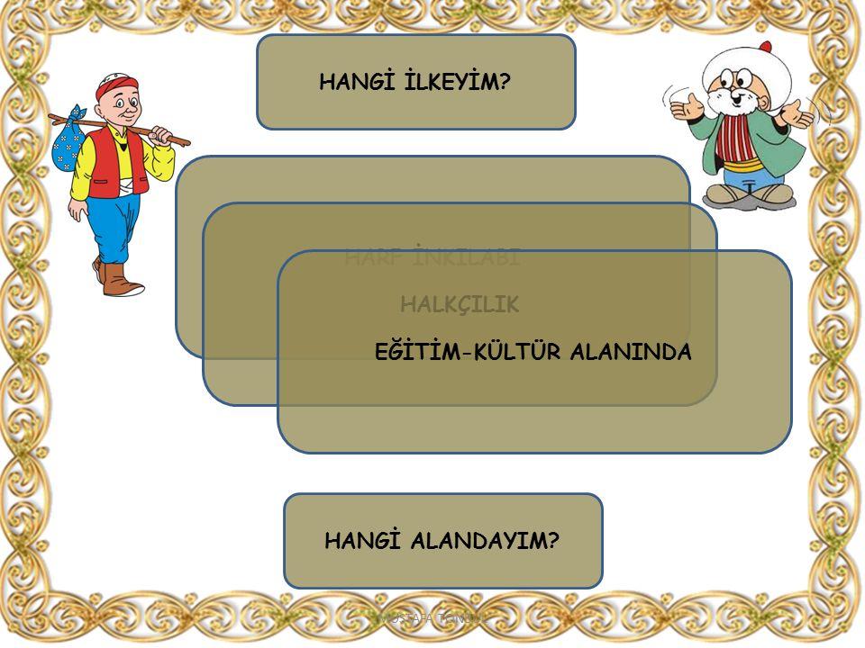 EĞİTİM-KÜLTÜR ALANINDA