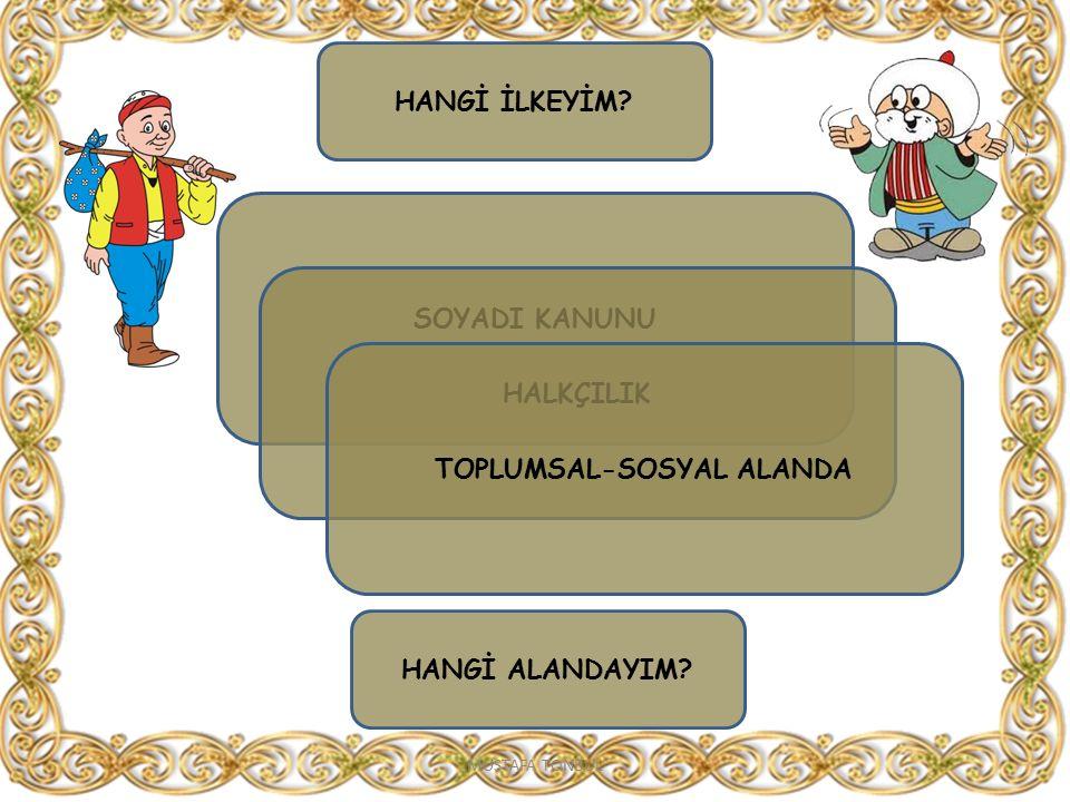 TOPLUMSAL-SOSYAL ALANDA
