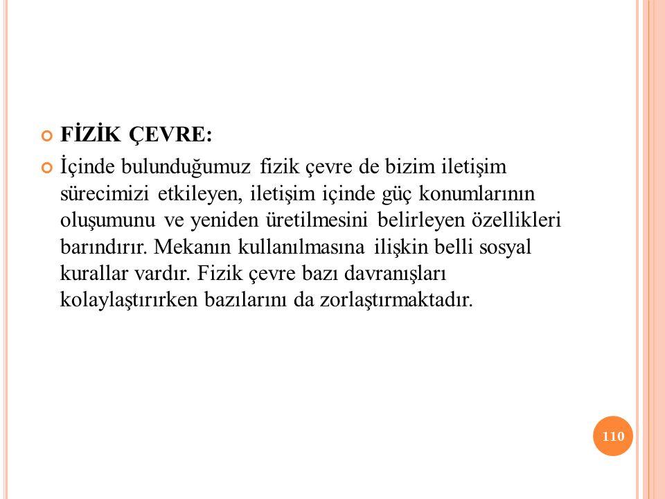 FİZİK ÇEVRE: