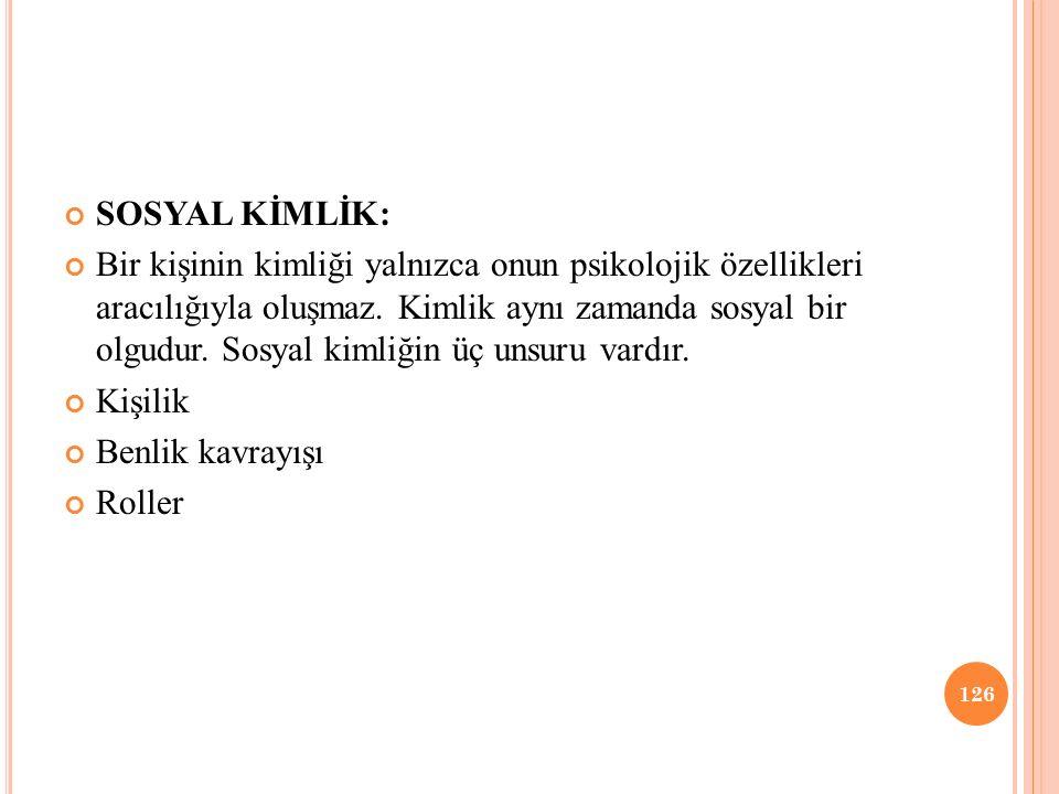 SOSYAL KİMLİK: