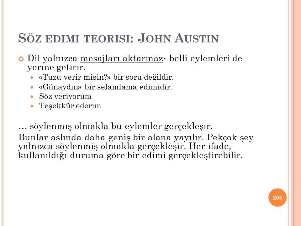 Söz edimi teorisi: John Austin