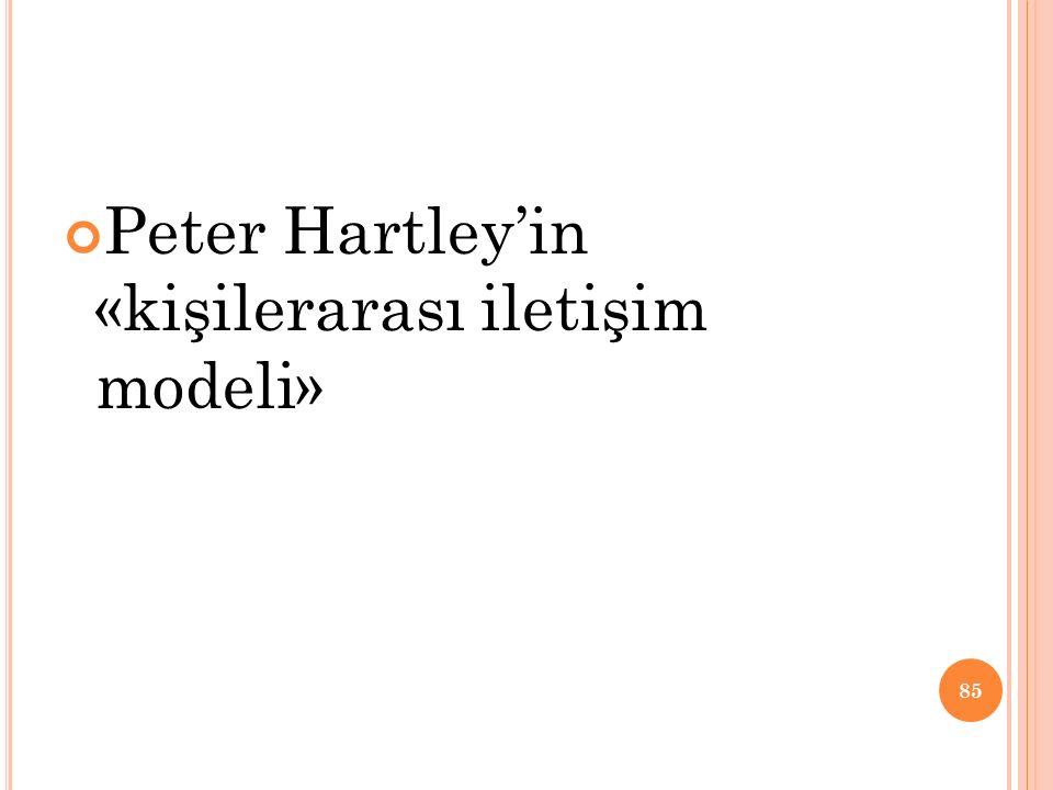 Peter Hartley'in «kişilerarası iletişim modeli»