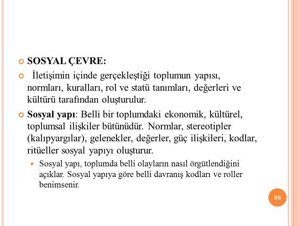 SOSYAL ÇEVRE: