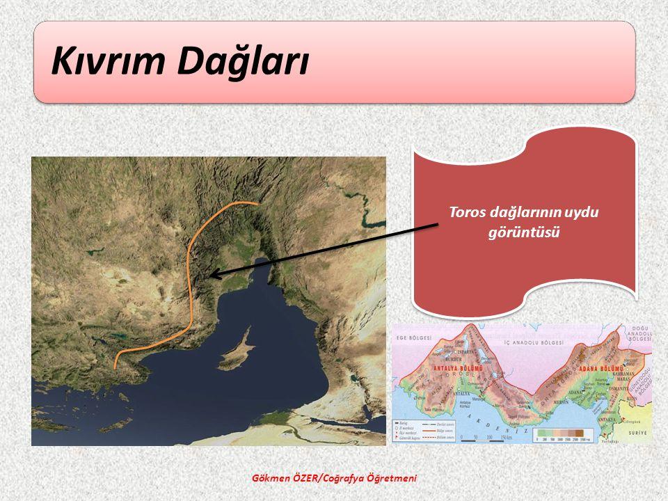 Toros dağlarının uydu görüntüsü Gökmen ÖZER/Coğrafya Öğretmeni