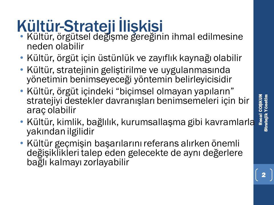 Kültür-Strateji İlişkisi