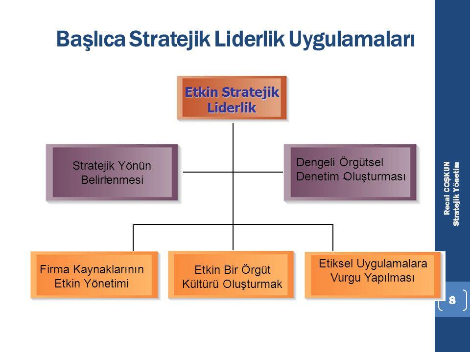 Başlıca Stratejik Liderlik Uygulamaları