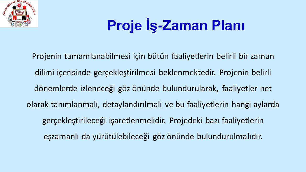 Proje İş-Zaman Planı