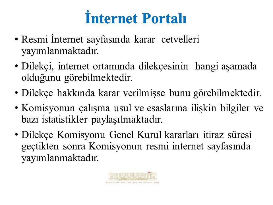 İnternet Portalı Resmi İnternet sayfasında karar cetvelleri yayımlanmaktadır.