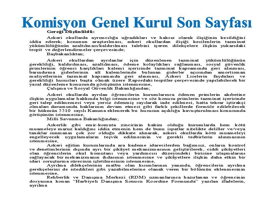 Komisyon Genel Kurul Son Sayfası