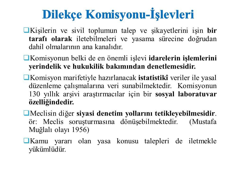 Dilekçe Komisyonu-İşlevleri