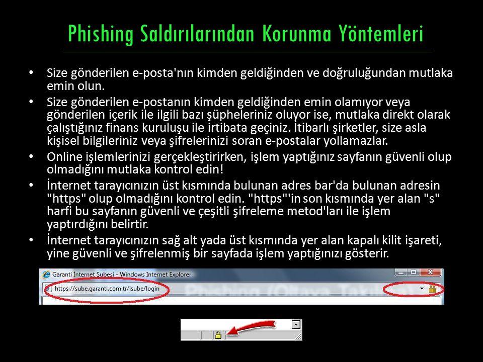 Phishing Saldırılarından Korunma Yöntemleri
