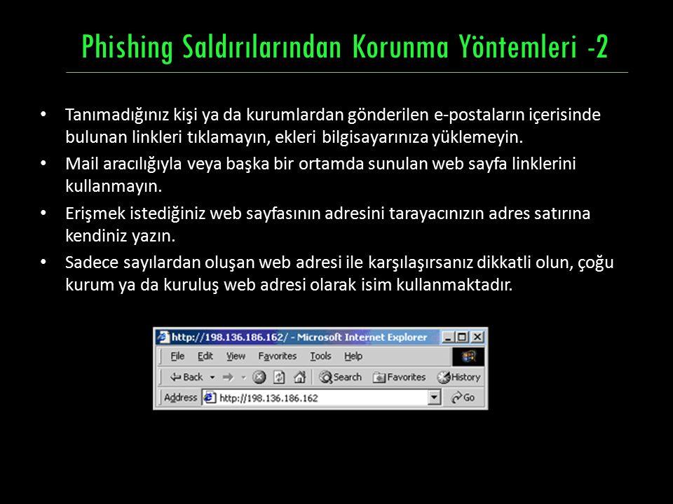 Phishing Saldırılarından Korunma Yöntemleri -2