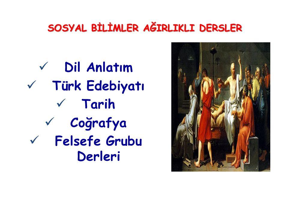 SOSYAL BİLİMLER AĞIRLIKLI DERSLER