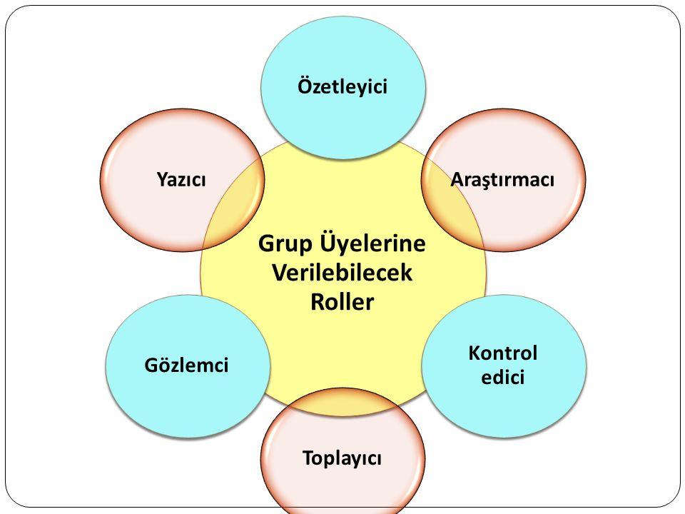 Grup Üyelerine Verilebilecek Roller