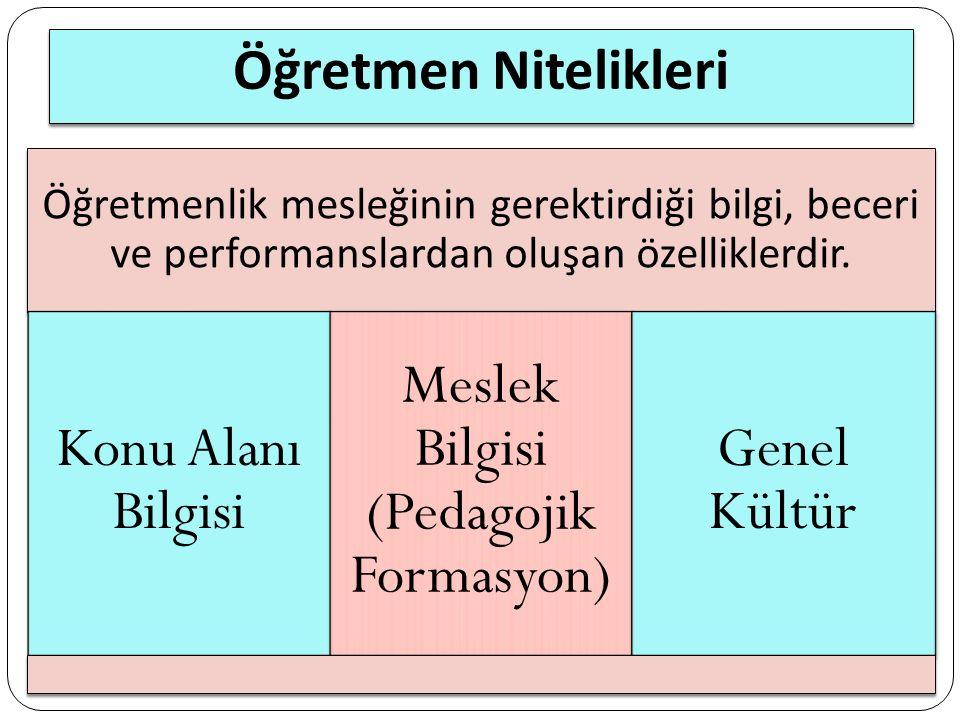 Meslek Bilgisi (Pedagojik Formasyon)
