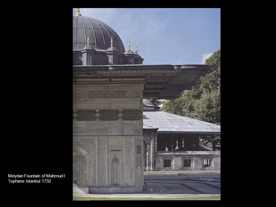 Meydan Fountain of Mahmud I Tophane Istanbul 1732
