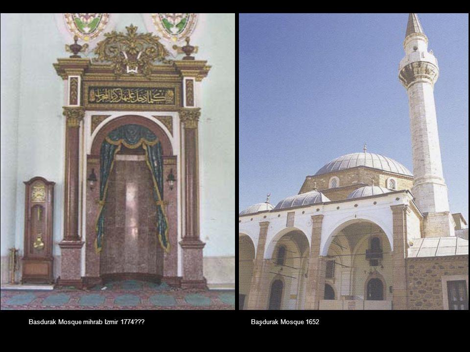 Basdurak Mosque mihrab Izmir 1774