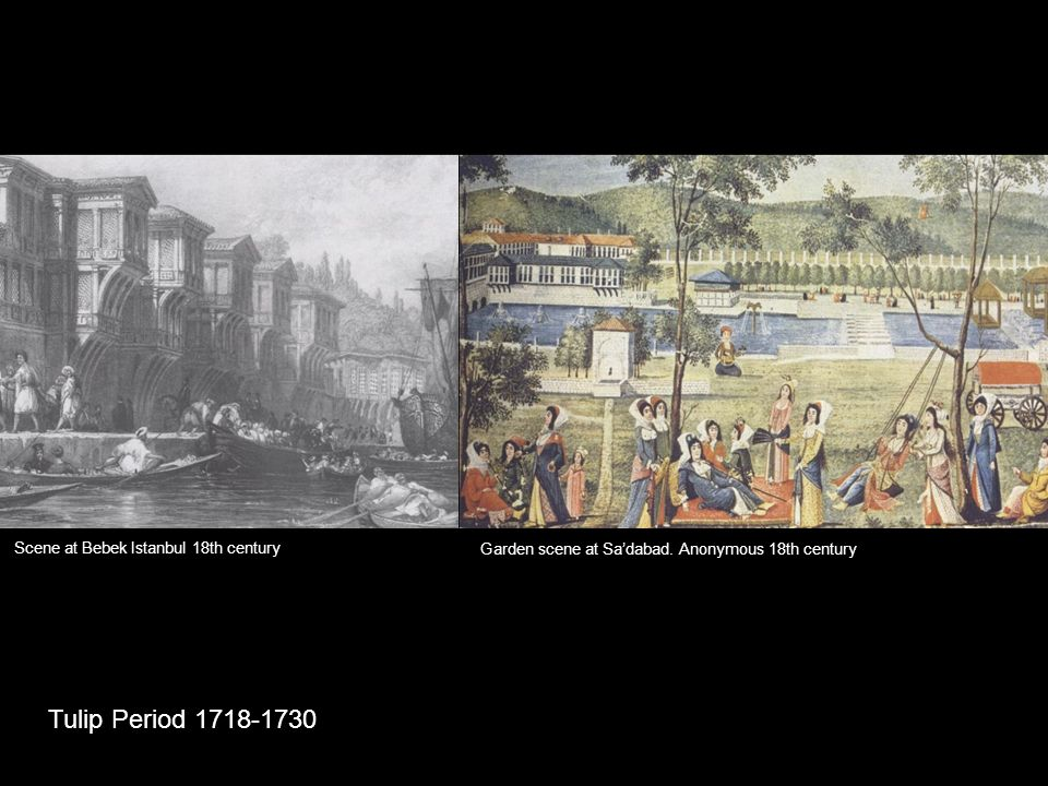 Tulip Period 1718-1730 Scene at Bebek Istanbul 18th century