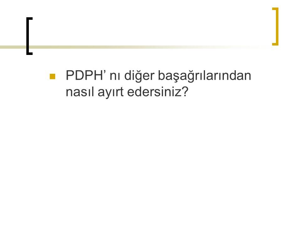 PDPH' nı diğer başağrılarından nasıl ayırt edersiniz