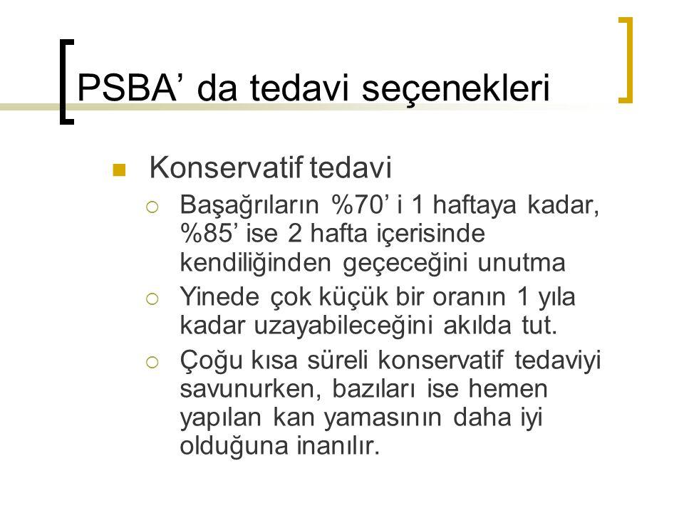 PSBA' da tedavi seçenekleri