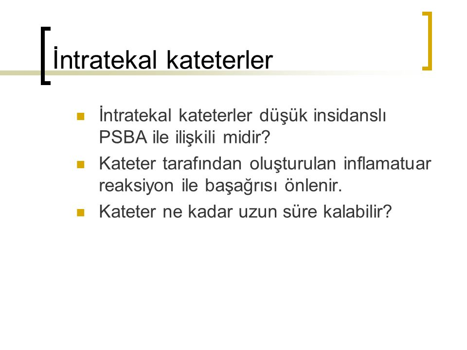 İntratekal kateterler