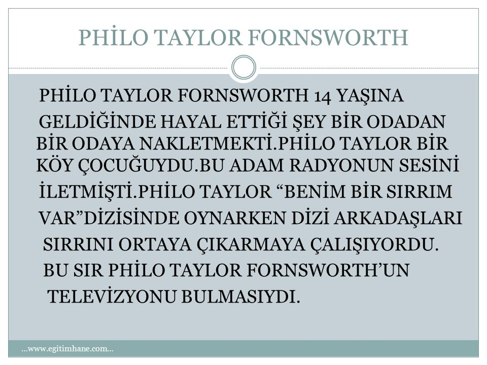 PHİLO TAYLOR FORNSWORTH